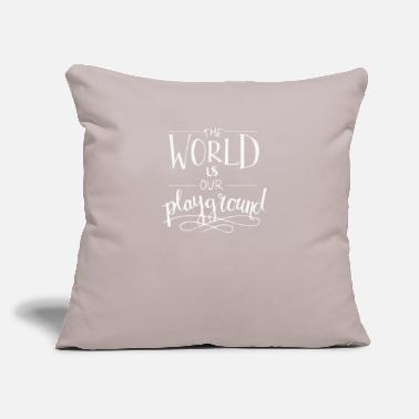 "World The World - Throw Pillow Cover 18"" x 18"""