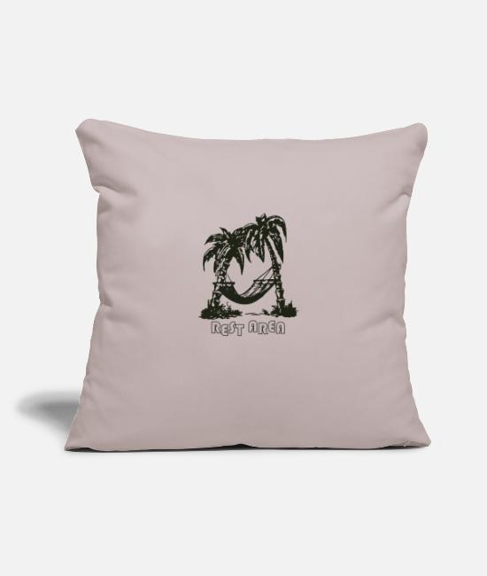 "Area Pillow Cases - Rest Area My Ways Funny logo - Throw Pillow Cover 18"" x 18"" light taupe"
