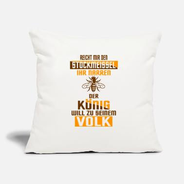 "Insect Chisel king people gift bee beekeeper honey - Throw Pillow Cover 18"" x 18"""