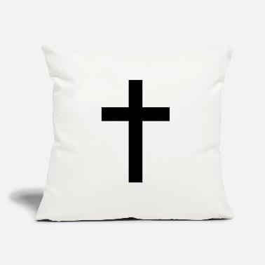 "Tradition Traditional Cross - Throw Pillow Cover 18"" x 18"""
