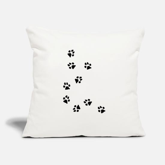 "Claw Pillow Cases - dog paw - Throw Pillow Cover 18"" x 18"" natural white"