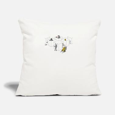 "Corporate Corporate Robots - Throw Pillow Cover 18"" x 18"""