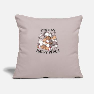 "Pile Cat Pile - Throw Pillow Cover 18"" x 18"""