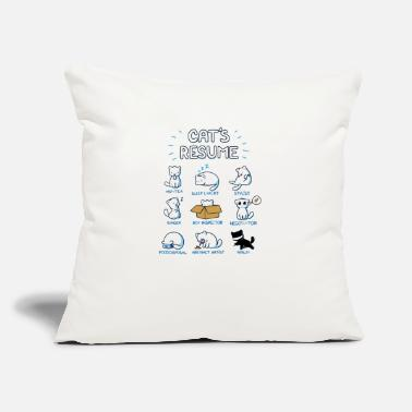 "Cat s Resume - Throw Pillow Cover 18"" x 18"""