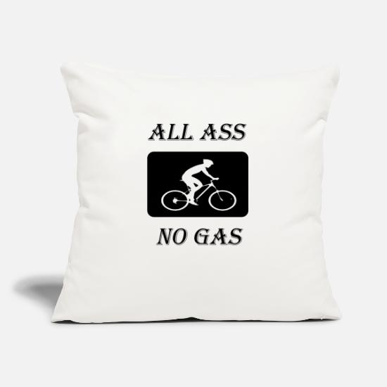 "Pump Pillow Cases - all ass no gas - Throw Pillow Cover 18"" x 18"" natural white"