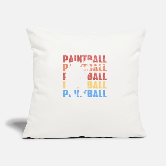 "Shooters Pillow Cases - Vintage Retro Style Paintball Gotcha Funsport - Throw Pillow Cover 18"" x 18"" natural white"
