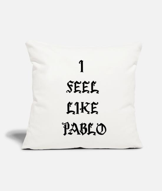 "Rap Pillow Cases - I FEEL LIKE PABLO - Throw Pillow Cover 18"" x 18"" natural white"