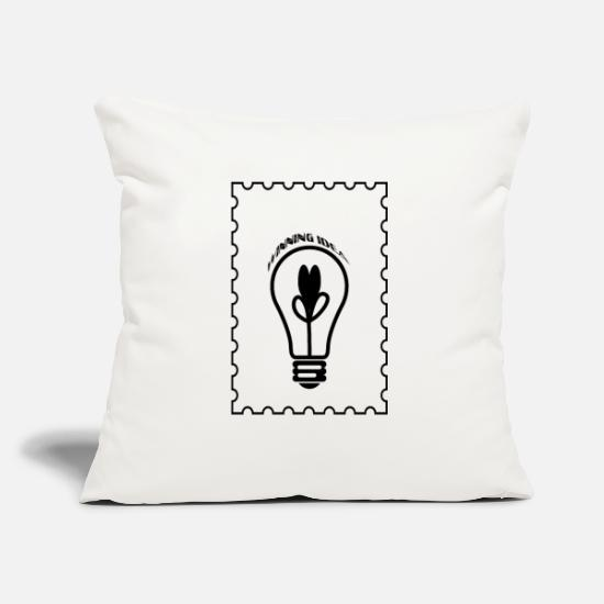 "Winner Pillow Cases - Winning idea T-shirt - Throw Pillow Cover 18"" x 18"" natural white"