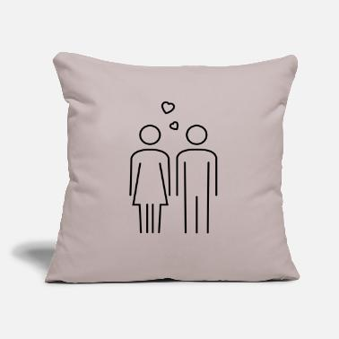"Couples couple - Throw Pillow Cover 18"" x 18"""