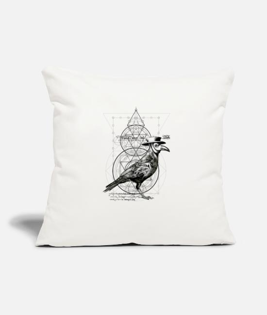 "Mythical Pillow Cases - The Plague Raven - Throw Pillow Cover 18"" x 18"" natural white"