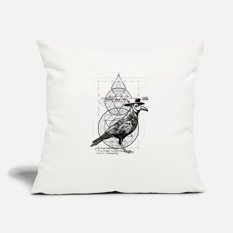 "Mythical Collection Vol 2 Pillow Cases - The Plague Raven - Throw Pillow Cover 18"" x 18"" natural white"