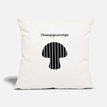 "Satire Champion Champignon Chips Satire - Throw Pillow Cover 18"" x 18"""