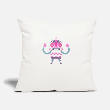 "Jester jester overprinting - Throw Pillow Cover 18"" x 18"""