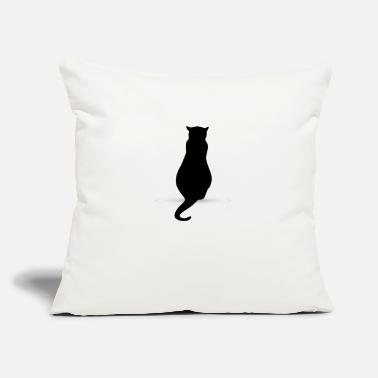"Silhouette Cat silhouette silhouettes - Throw Pillow Cover 18"" x 18"""