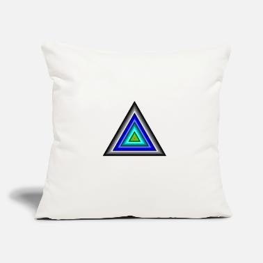 "Triangle Triangles in Triangle - Throw Pillow Cover 18"" x 18"""