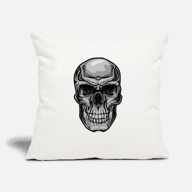 "Tatoo T-Shirt print cool skull streetwear vector image - Throw Pillow Cover 18"" x 18"""