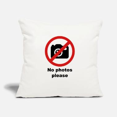 "Photo no photos - Throw Pillow Cover 18"" x 18"""