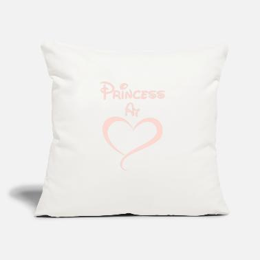 "Princess At Heart - Throw Pillow Cover 18"" x 18"""