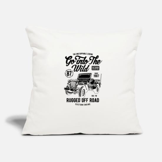 "Goodies Pillow Cases - GO INTO THE WILD - Throw Pillow Cover 18"" x 18"" natural white"