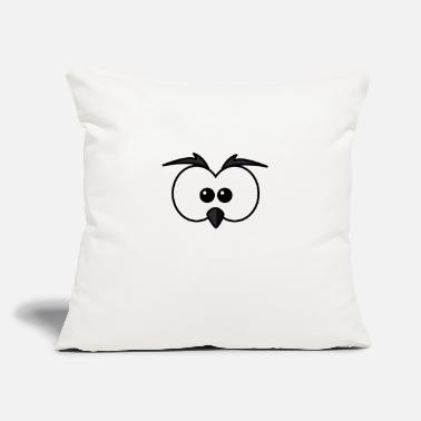 Beak Eyes with beak and eyebrows black - Throw Pillow Cover