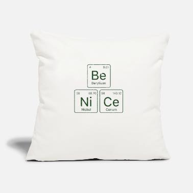 "Periodic Table Be NiCe Periodic table - Throw Pillow Cover 18"" x 18"""