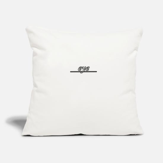 "Eye Pillow Cases - eye - Throw Pillow Cover 18"" x 18"" natural white"