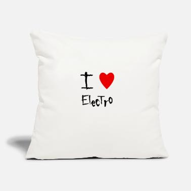"Electro Electro - Throw Pillow Cover 18"" x 18"""