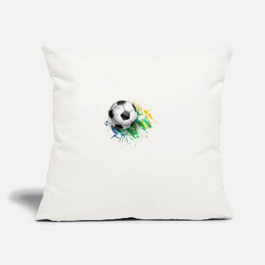 "Foot Foot ball - Throw Pillow Cover 18"" x 18"""