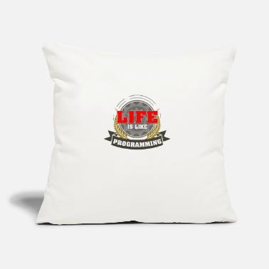 "Program Programming - Throw Pillow Cover 18"" x 18"""