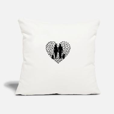 Dog Heart - Black - Throw Pillow Cover