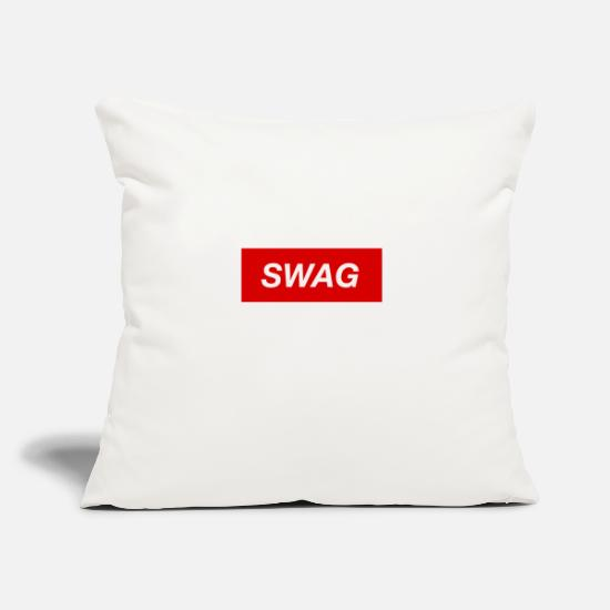 "Swag Pillow Cases - Swag - Throw Pillow Cover 18"" x 18"" natural white"