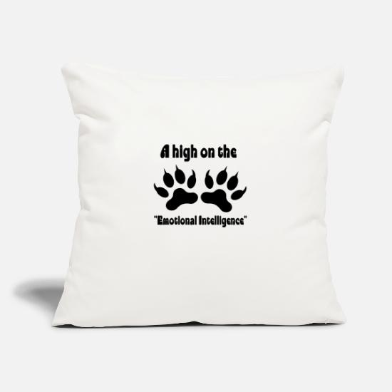 "Love Pillow Cases - dog love - Throw Pillow Cover 18"" x 18"" natural white"