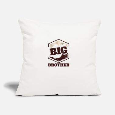 "Big Big Brother Big Sister Big Brother BIG Badge - Throw Pillow Cover 18"" x 18"""