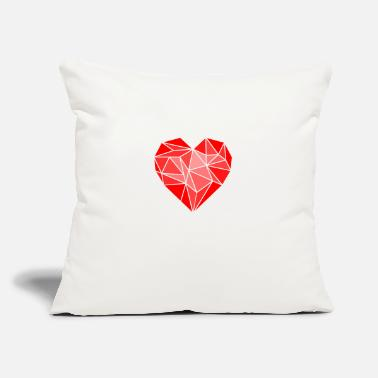 "Nerdsbyleo Abstract Heart - Throw Pillow Cover 18"" x 18"""