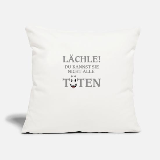 "Quotes Pillow Cases - Quote - Throw Pillow Cover 18"" x 18"" natural white"