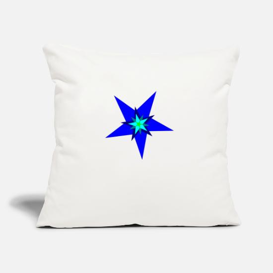 "Green Pillow Cases - Stars - Throw Pillow Cover 18"" x 18"" natural white"