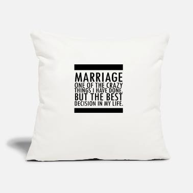"Marriage Slave Marriage - Throw Pillow Cover 18"" x 18"""