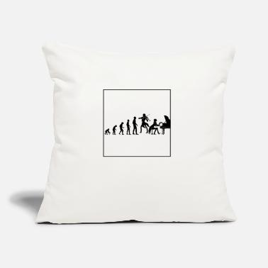 "Duet Evolution violin and piano - Throw Pillow Cover 18"" x 18"""