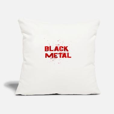 "Black Metal BLACK METAL - Throw Pillow Cover 18"" x 18"""
