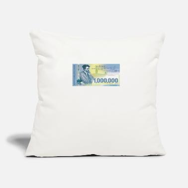"Bill Québec 1million dollars bill - Throw Pillow Cover 18"" x 18"""