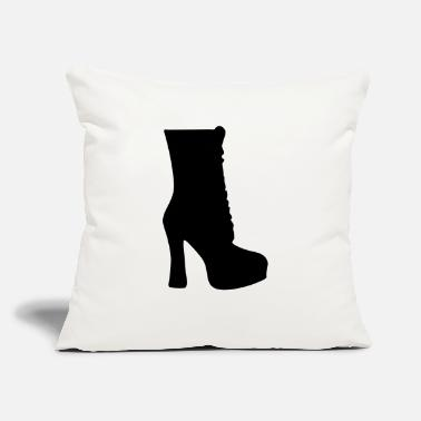 "Highheels Vector highheels Silhouette - Throw Pillow Cover 18"" x 18"""