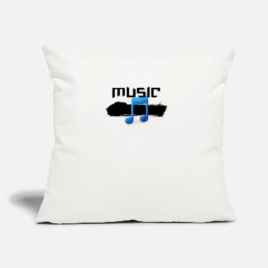 "MUSIC - Throw Pillow Cover 18"" x 18"""