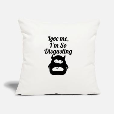 Disgusting disgusting blak - Throw Pillow Cover