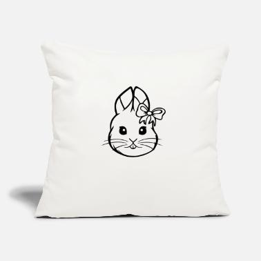 "Funny Rabbit Funny Rabbit - Throw Pillow Cover 18"" x 18"""