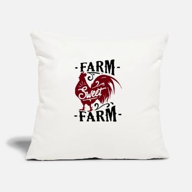"Farm Farm sweet farm - Throw Pillow Cover 18"" x 18"""