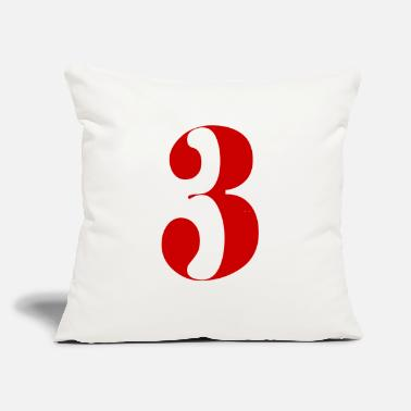 "Number 3 - Throw Pillow Cover 18"" x 18"""