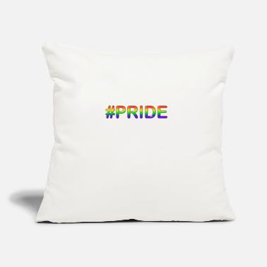 "Pride #PRIDE - Throw Pillow Cover 18"" x 18"""