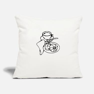 "Pastries Coffee and Pastry - Throw Pillow Cover 18"" x 18"""