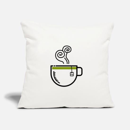 "Gift Idea Pillow Cases - Good Morning Tea Cup - Throw Pillow Cover 18"" x 18"" natural white"