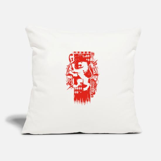 "Game Pillow Cases - LION CREST - Throw Pillow Cover 18"" x 18"" natural white"